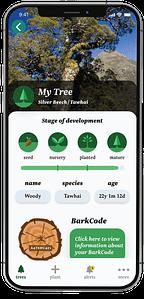 TreeTime App tree info page