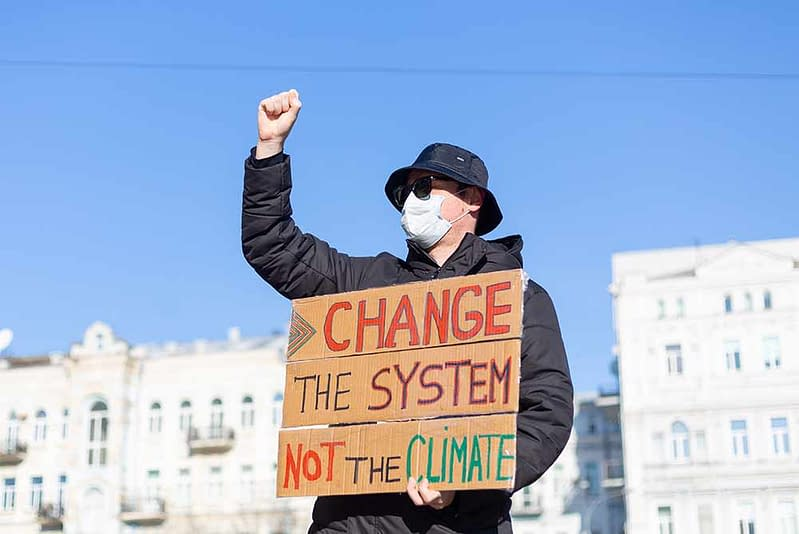 climate change protestor