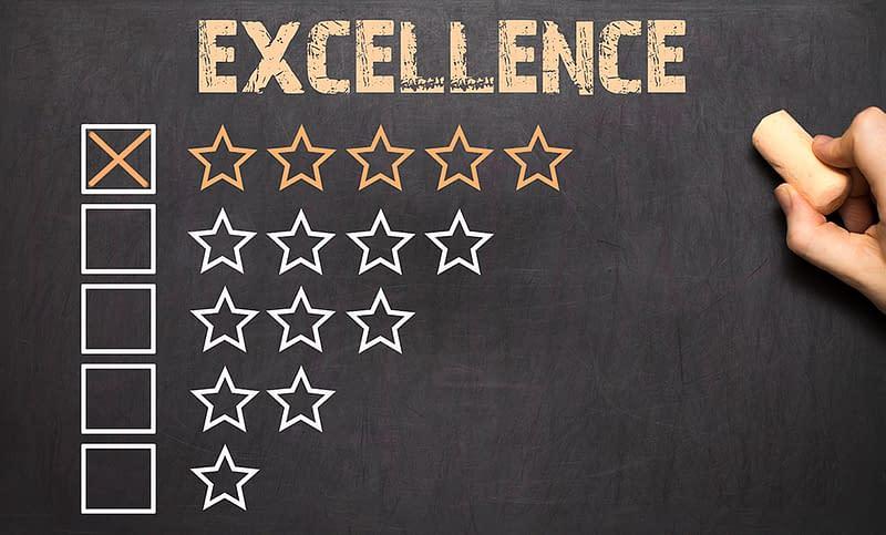 Testimonial star rating