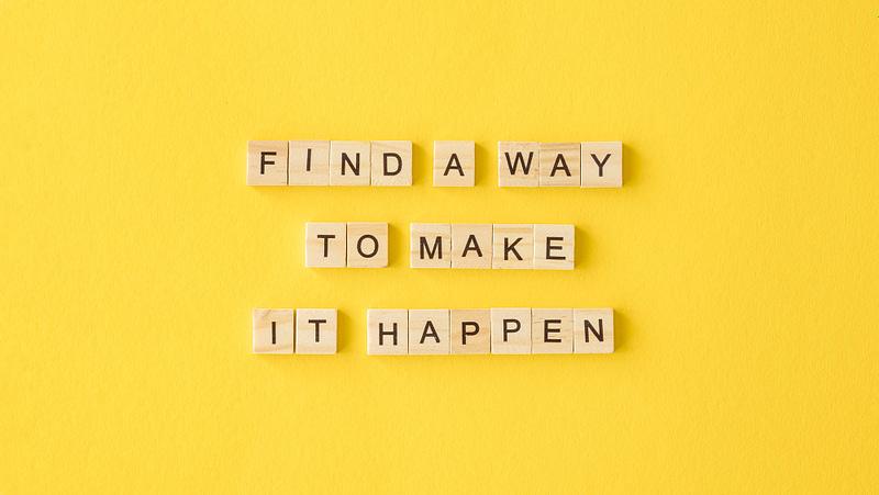 Make it happen scrabble tiles